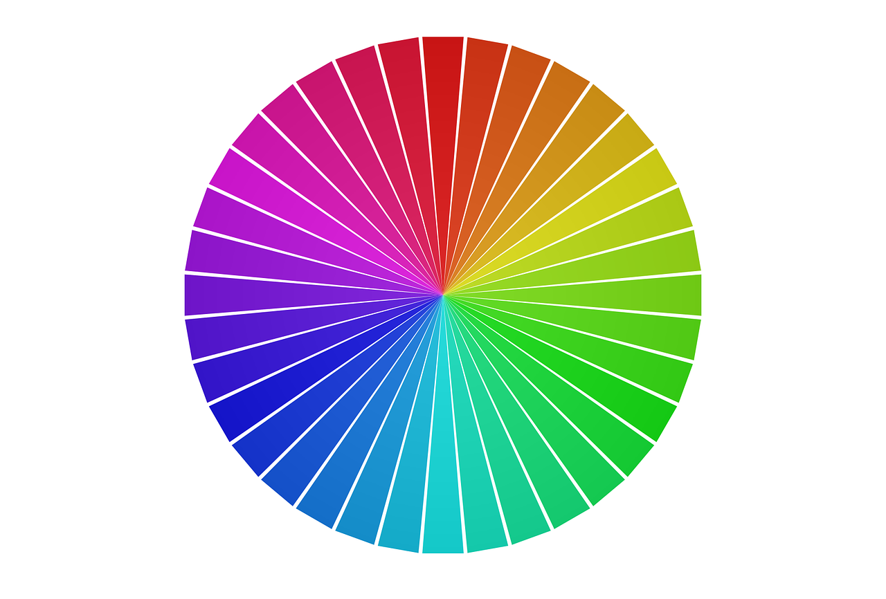 color wheel for complimentary and analogic colors