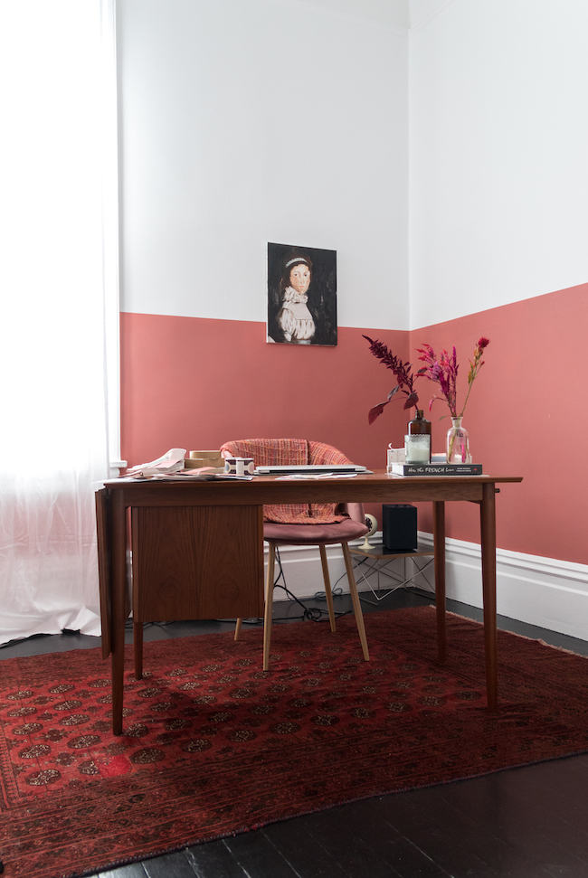 home office paint ideas in terracotta