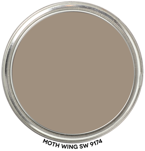 mushroom gray paint in moth wing by sherwin williams