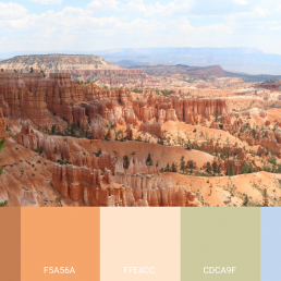 Bryce Canyon Picture with Color Palette