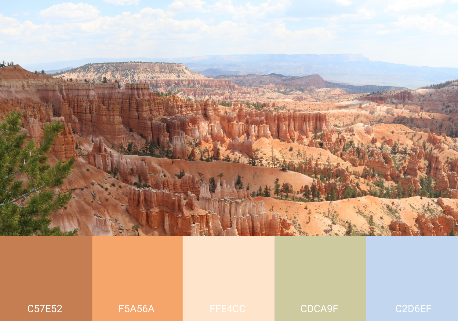 Bryce Canyon National Park-inspired Color Palette