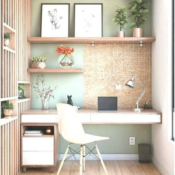 sage green pain for office design for zoom