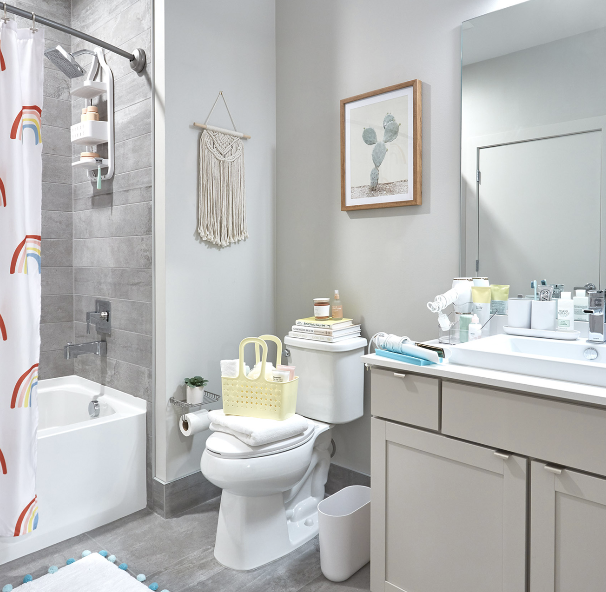 Bathroom with Shower Tote