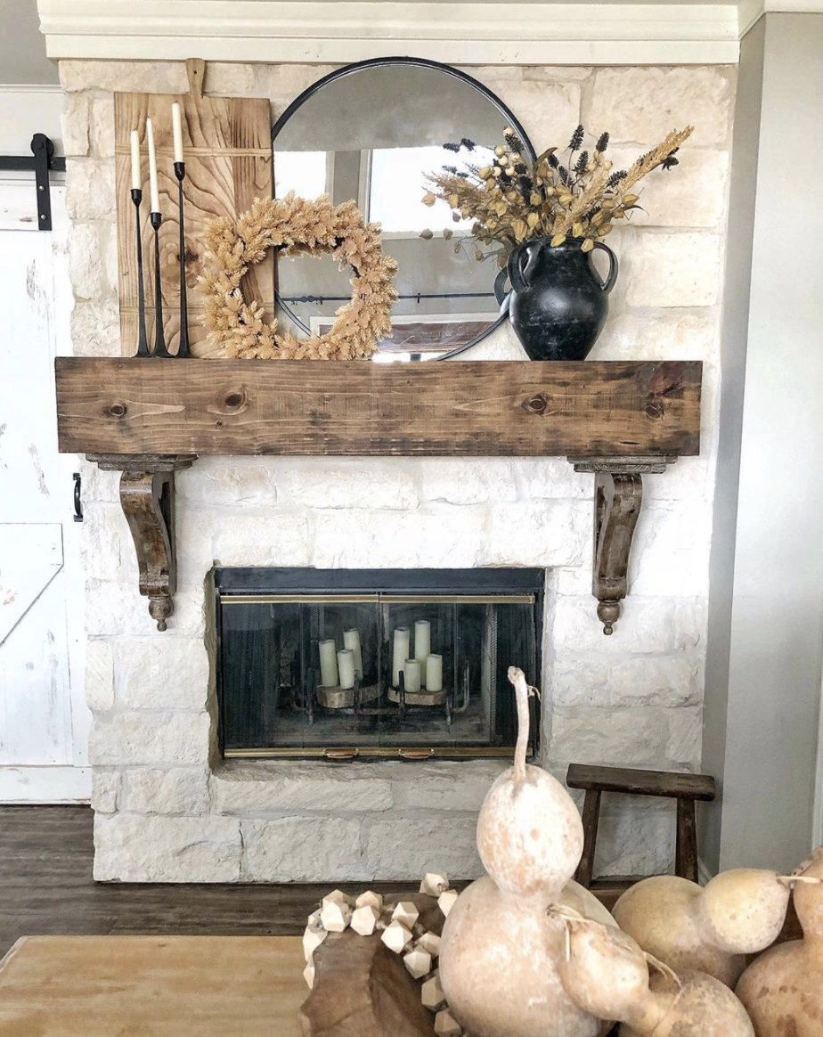 Mantel from hipandhumblestyle